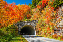 Blue Ridge Parkway Tunnel In Pisgah National Forest