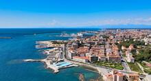 Amazing Aerial View Of Livorno Coastline, Tuscany