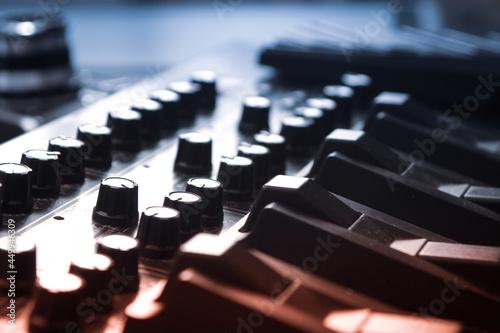 Sprzęt nagłaśniający - konsola na koncert