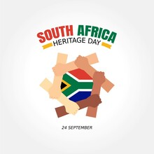 Happy Heritage Day South Africa Vector Illustration. Suitable For Greeting Card, Poster And Banner.