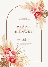 Hand Painted Boho Wedding Invitation