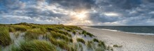 Dune Beach Panorama On The Island Of Sylt, Schleswig-Holstein, Germany
