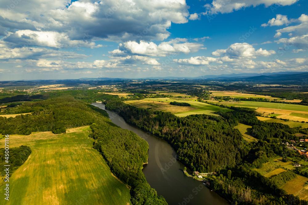 rzeka bóbr - krajobraz - dolny śląsk - pilchowice
