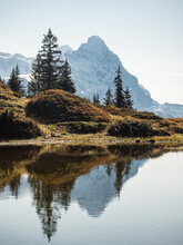 Lake In The Mountains With Reflection In Autumn