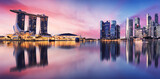 Fototapeta Londyn - Singapore city skyline at night
