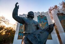Soviet Sculpture To Bashkir Musician
