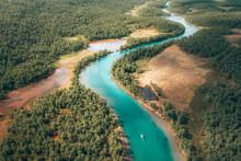 Boat Ride Trough A Colorful River