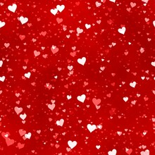 Little Red And White Hearts Background Pattern