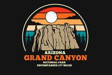 Grand Canyon Arizona Merchandise Silhouette Design