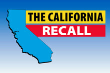 Vector Illustration Of The California Recall With Shape Of The State