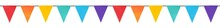 Seamless Repeatable Border Of Cute Rainbow Flag Garland. Bright Decoration For Design, Greeting Card, Invitation. Hand Drawn Watercolour Graphic Painting On White Backdrop, Isolated Slip Art Elements.