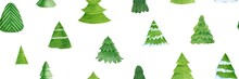 Seamless Pattern With Christmas Tree. He Illustration Can Be Use For Wrapping Paper And Scrapbooking