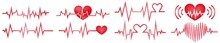 Heart Beat On The White. Heart Pulse. Red And White Colors. Heartbeat Lone, Cardiogram. Beautiful Healthcare, Medical Background. Cardiogram, Heartbeat, Medical, Monitor, Wave, Line, Beat.