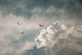 Fototapeta Na sufit - Skoki spadochronowe