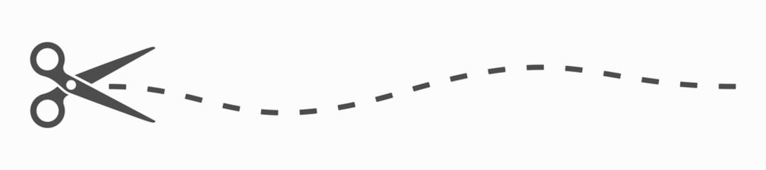 Scissor icon. Cut symbol. Scissors cut icon page symbol for your web site design. illustration