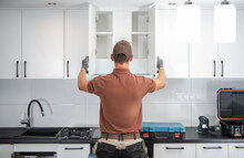 Kitchen Cabinets Installation Finished By Professional Cabinetmaker