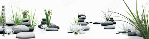 SPA LOTUS FLOWER AND GRASS