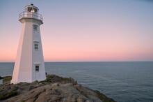 Rugged Coastal Lighthouse At Cape Spear, Newfoundland
