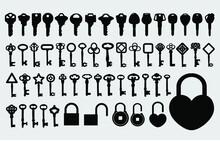 Keys Padlock Silhouette