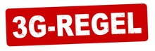 Nlsb1581 NewLongStampBanner Nlsb - German Label / Banner / Deutsch - Stempel 3G - Regel . Geimpft, Genesen, Getestet - 3zu1 - Rot Xxl G10676