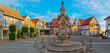 canvas print picture - Marktplatz Obernkirchen Panorama