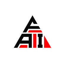 FAI Triangle Letter Logo Design With Triangle Shape. FAI Triangle Logo Design Monogram. FAI Triangle Vector Logo Template With Red Color. FAI Triangular Logo Simple, Elegant, And Luxurious Logo. FAI