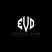 EVD Letter Logo Design With Polygon Shape. EVD Polygon Logo Monogram. EVD Cube Logo Design. EVD Hexagon Vector Logo Template White And Black Colors. EVD Monogram, EVD Business And Real Estate Logo.