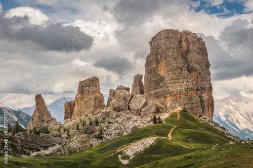 Cinque Torri Dolomty Alpy