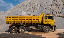 Semi Truck At Gravel Mine In Thailand