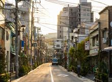 Empty Street In Residential Area Of Tokyo