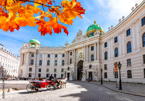 Hofburg palace on St. Michael square (Michaelerplatz) in autumn, Vienna, Austria