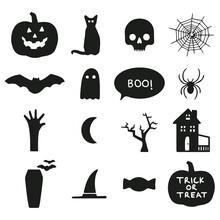 Halloween Icons Vector Art Art Design Vector Illustration Print Poster Wall Art Canvas