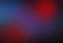Dark Blue, Red Vector Polygon Abstract Background.