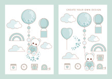 Baby Shower Party  Card  For Boy