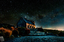 A Starry Night At The Church Of The Good Shepard