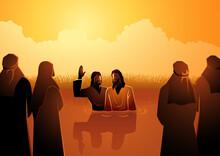 Jesus Baptised By John The Baptist