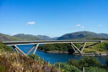 Kylesku Bridge In Sutherland North West Highlands Of Scotland