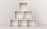 Fototapeta Przestrzenne - box blank cube white 3D