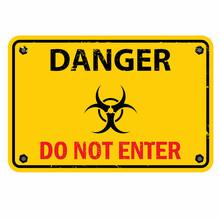 Danger, Do Not Enter, Sign Vector