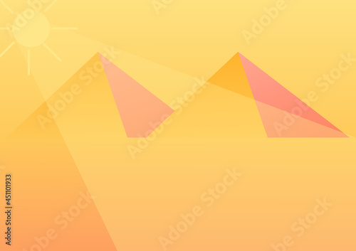 simple background with desert theme with pyramid design