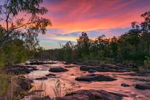 Sunset At Crystal Falls, Jatbula Trail