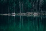 Fototapeta Fototapety do łazienki - Łódka przy jeziorze