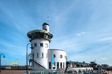 Control Tower Harbor Master Port Of Harlingen, Friesland Province, The Netherlands