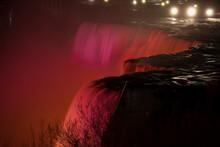 Niagara Falls Under Lights At Night