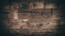 Old Brown Rustic Weathred Bright Light Grunge Wooden Timber Table Wall Floor Board Texture - Wood Background Banner Top View .