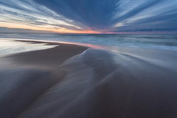 Sunset over the Baltic Sea, Pobierowo, Pustkowo, Trzęsacz, Bałtyk, Poland