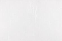 Yunlong Kam White Decorative Paper Texture. Thin Silk Fibers Decorated Paper Background. Landscape Horizontal Orientation.