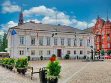 Town Square At Ystad In Sweden