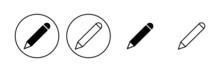 Pencil Icon Set. Pen Symbol. Edit Icon Vector