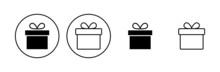 Gift Icon Set. Gift Vector Icon. Birthday Gift